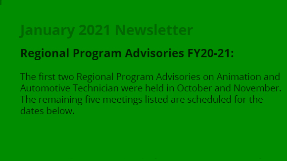 CCW Jan '21 Newsletter offers updates and upcoming events
