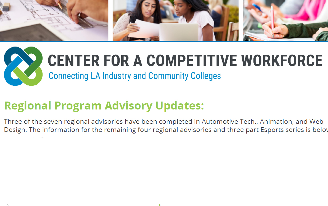 Regional Program Advisories Update:  Which industries are sharing with college faculty next?